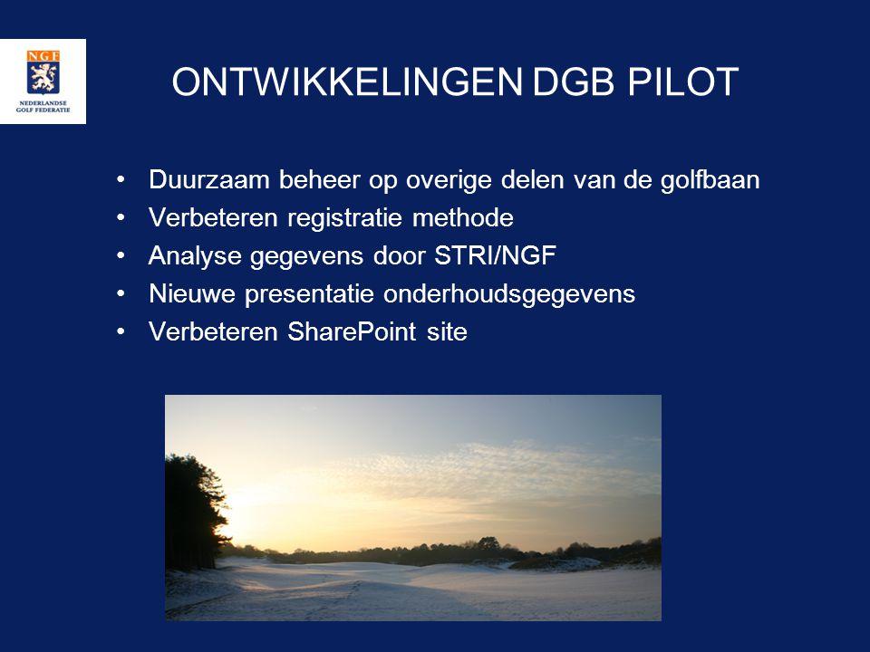 ONTWIKKELINGEN DGB PILOT