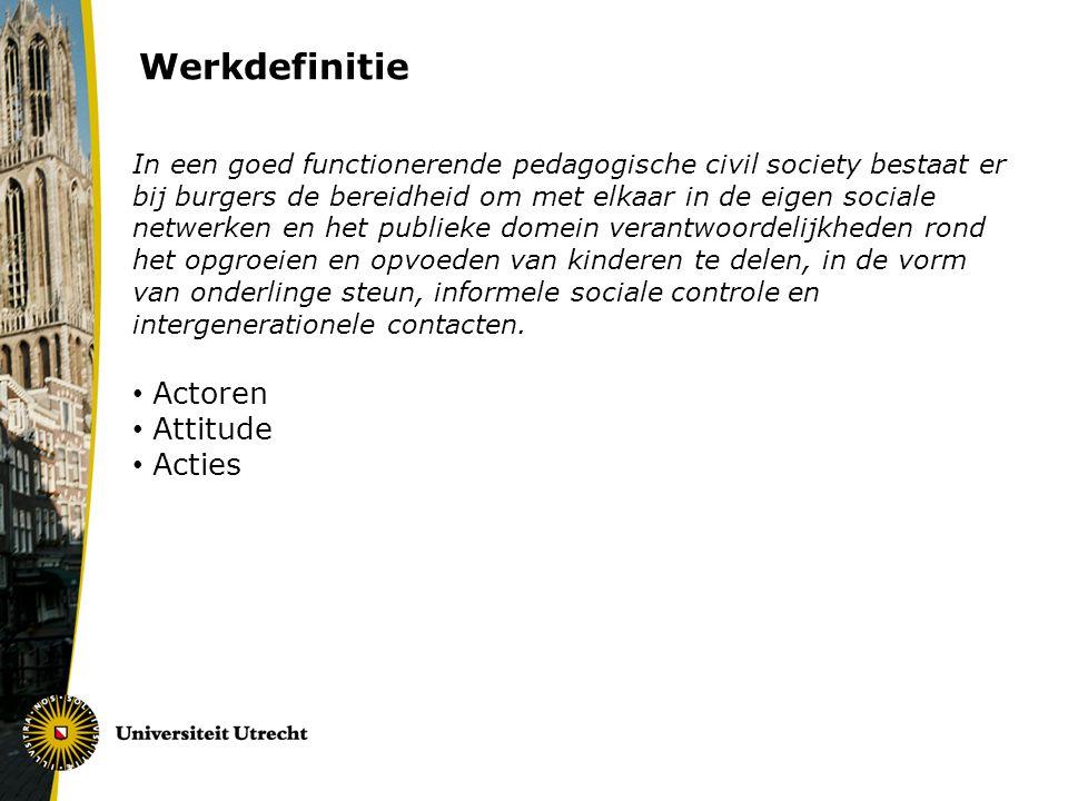 Werkdefinitie Actoren Attitude Acties