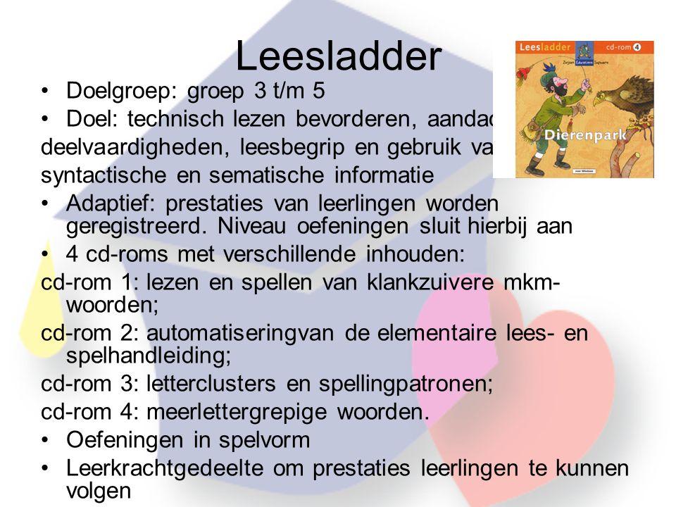 Leesladder Doelgroep: groep 3 t/m 5