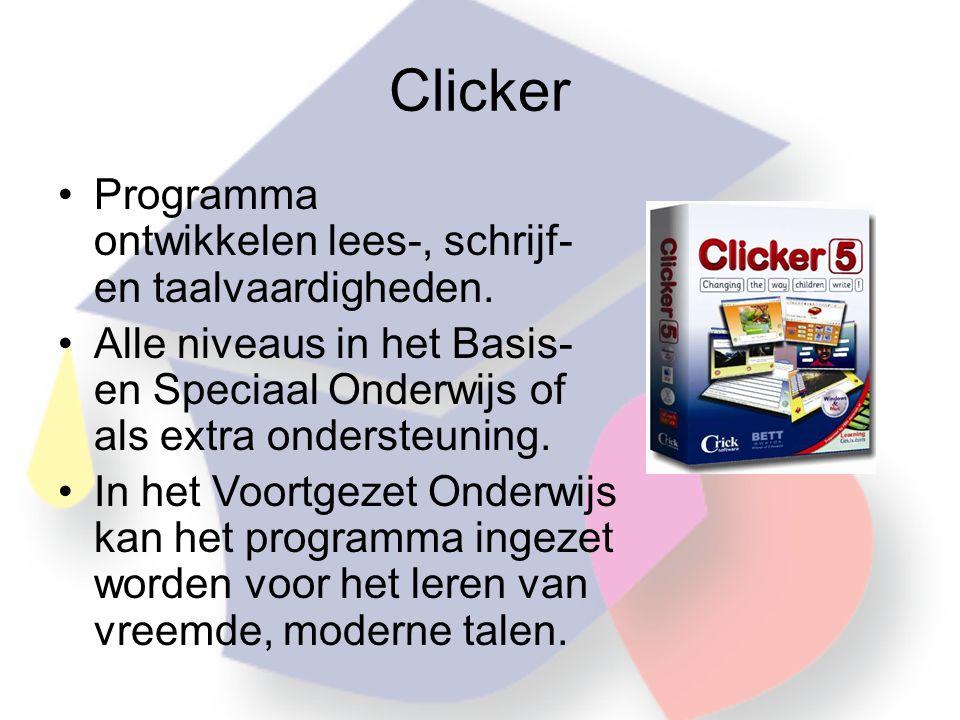 Clicker Programma ontwikkelen lees-, schrijf- en taalvaardigheden.
