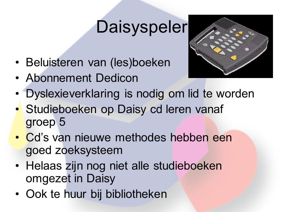Daisyspeler Beluisteren van (les)boeken Abonnement Dedicon