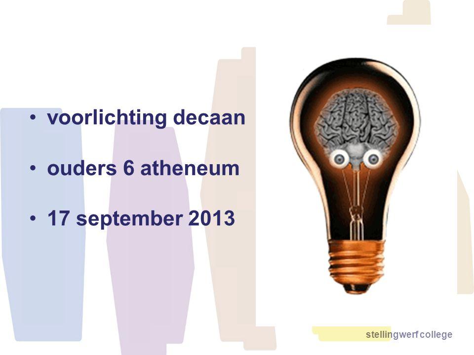 voorlichting decaan ouders 6 atheneum 17 september 2013