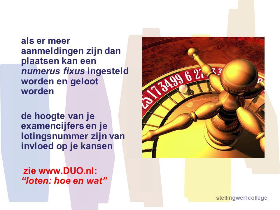 zie www.DUO.nl: loten: hoe en wat