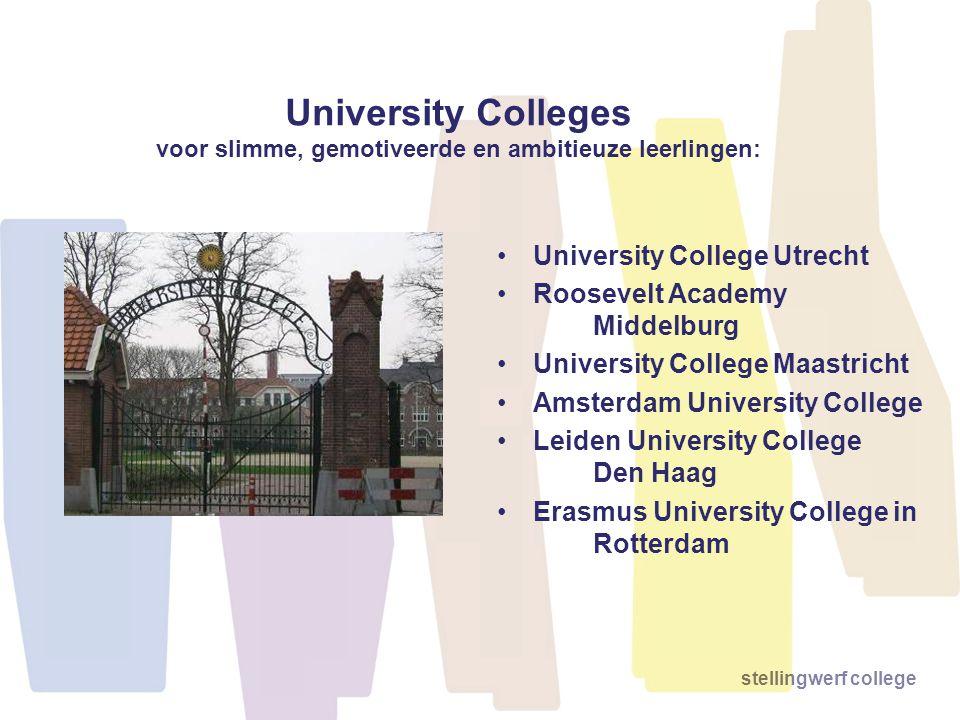 University Colleges voor slimme, gemotiveerde en ambitieuze leerlingen: