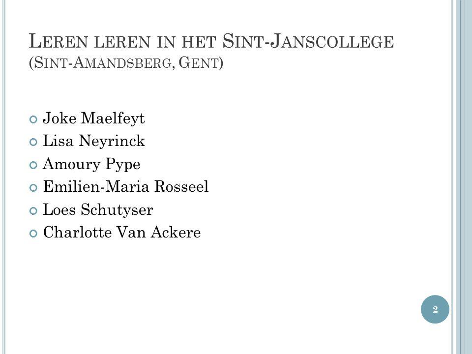 Leren leren in het Sint-Janscollege (Sint-Amandsberg, Gent)