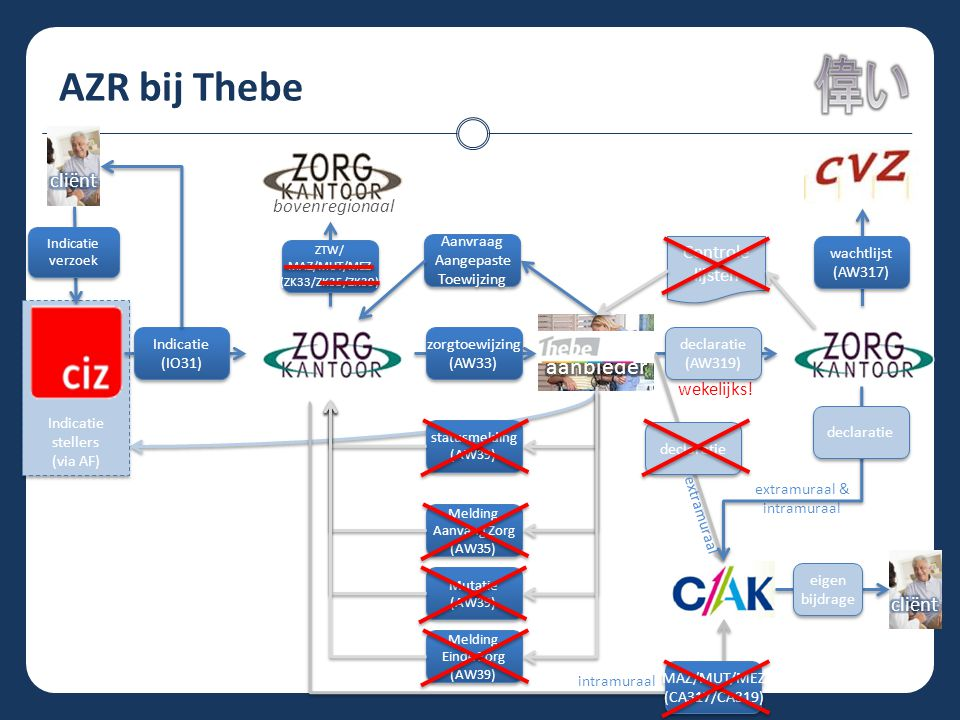 AZR bij Thebe zorg aanbieder cliënt cliënt bovenregionaal Controle