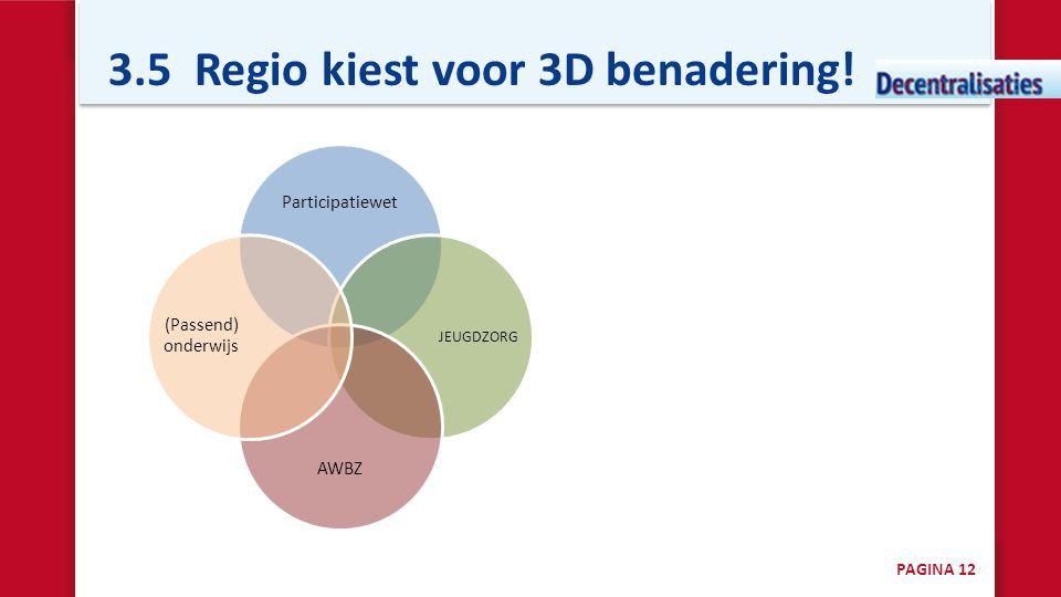 3.5 Regio kiest voor 3D benadering!