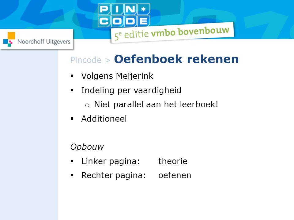 Pincode > Oefenboek rekenen