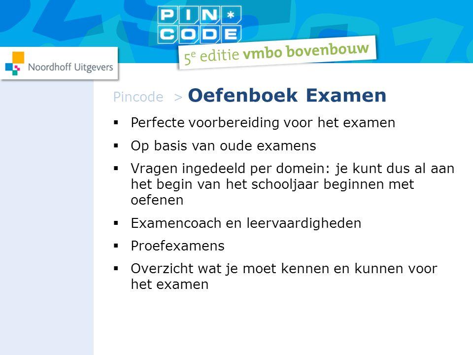 Pincode > Oefenboek Examen