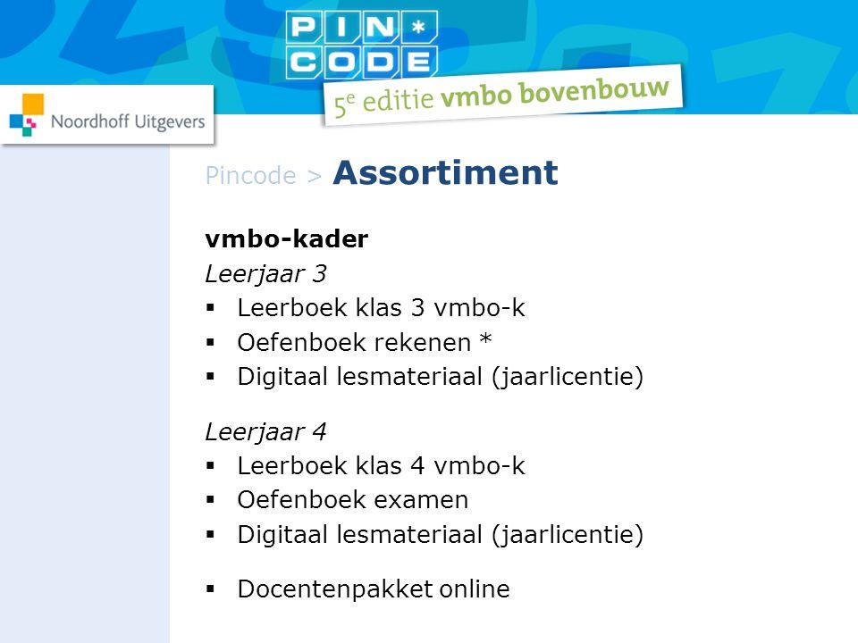Pincode > Assortiment