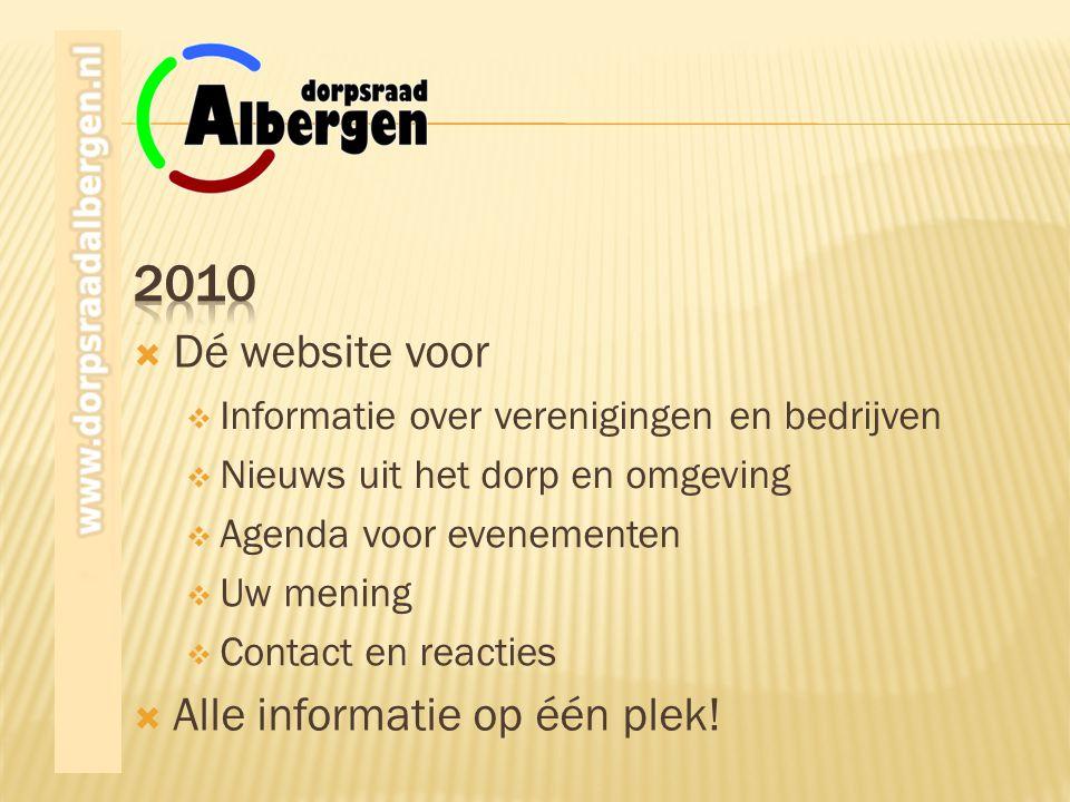 2010 Dé website voor Alle informatie op één plek!