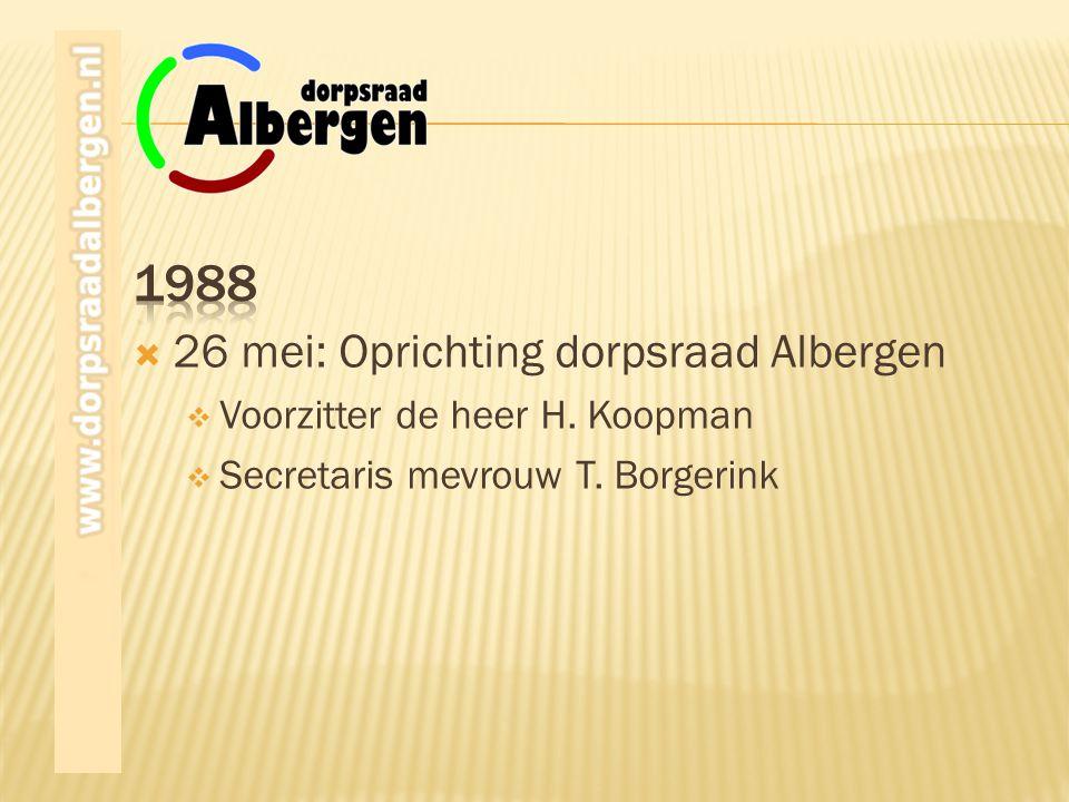 1988 26 mei: Oprichting dorpsraad Albergen