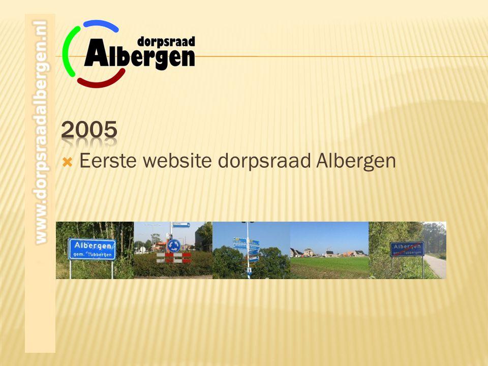 2005 Eerste website dorpsraad Albergen