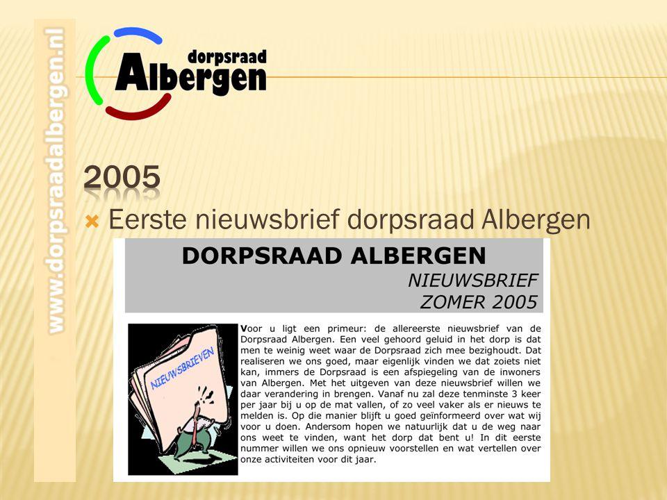 2005 Eerste nieuwsbrief dorpsraad Albergen