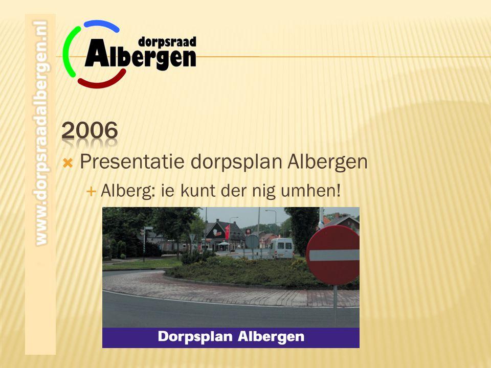 2006 Presentatie dorpsplan Albergen Alberg: ie kunt der nig umhen!