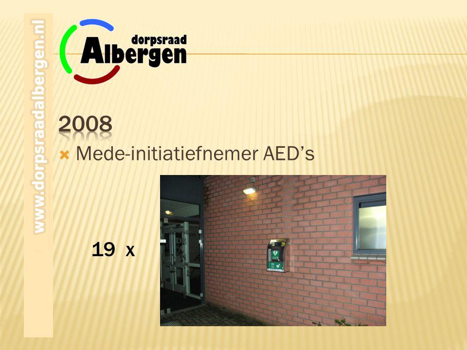 2008 Mede-initiatiefnemer AED's 19 x