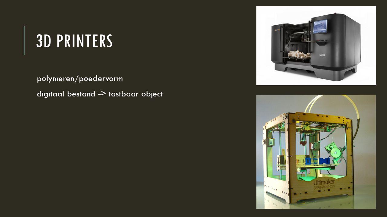 3d printers polymeren/poedervorm