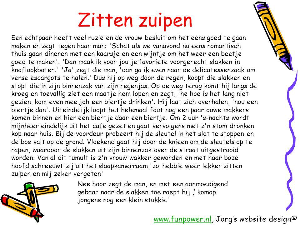 Zitten zuipen www.funpower.nl, Jorg's website design©