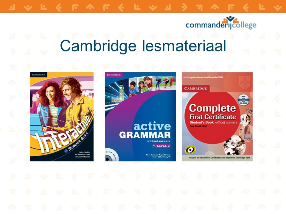 Cambridge lesmateriaal