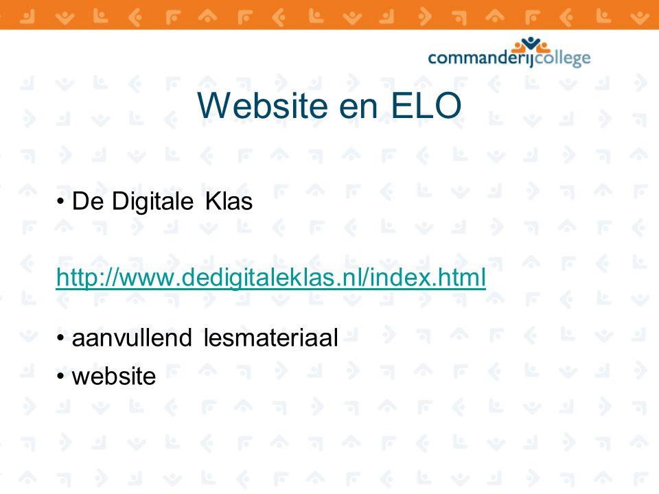Website en ELO De Digitale Klas