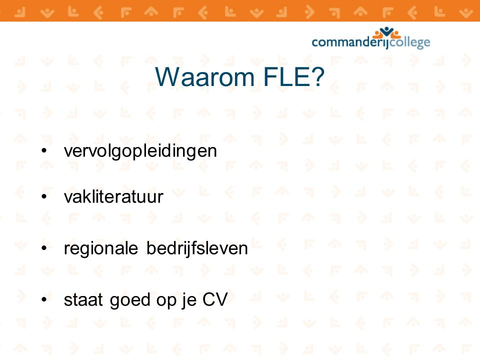 Waarom FLE vervolgopleidingen vakliteratuur regionale bedrijfsleven