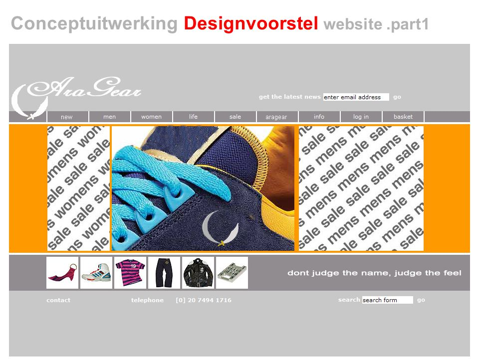 Conceptuitwerking Designvoorstel website .part1
