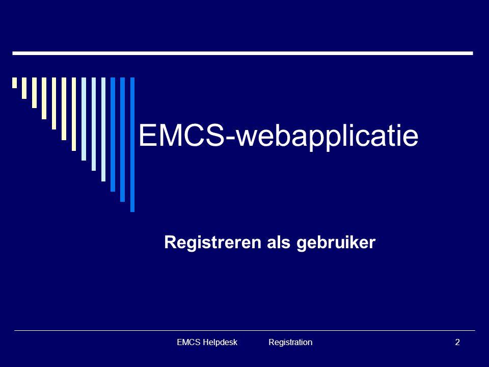 Registreren als gebruiker