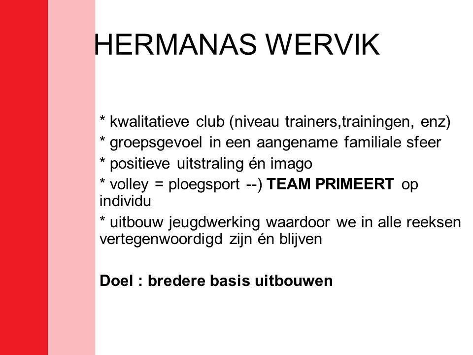 HERMANAS WERVIK * kwalitatieve club (niveau trainers,trainingen, enz)