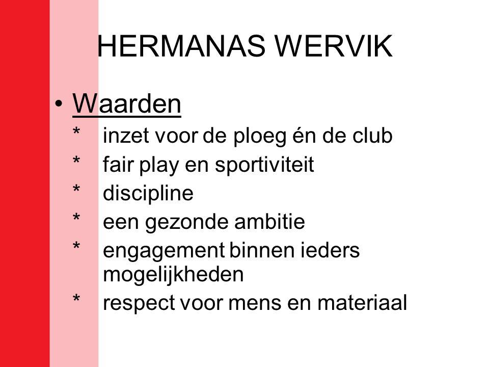 HERMANAS WERVIK Waarden * inzet voor de ploeg én de club