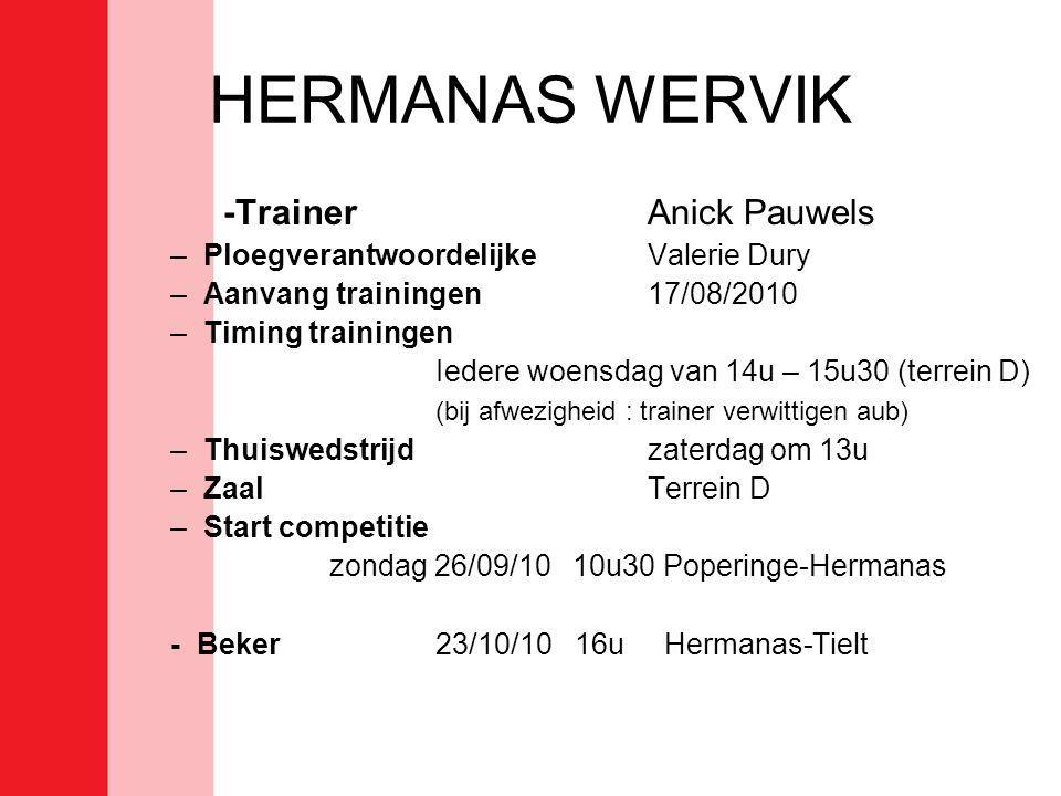 HERMANAS WERVIK -Trainer Anick Pauwels
