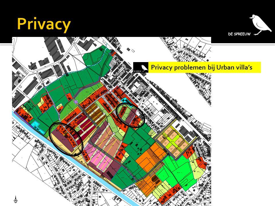 Privacy Privacy problemen bij Urban villa's