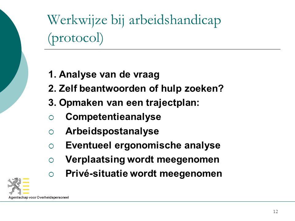 Werkwijze bij arbeidshandicap (protocol)