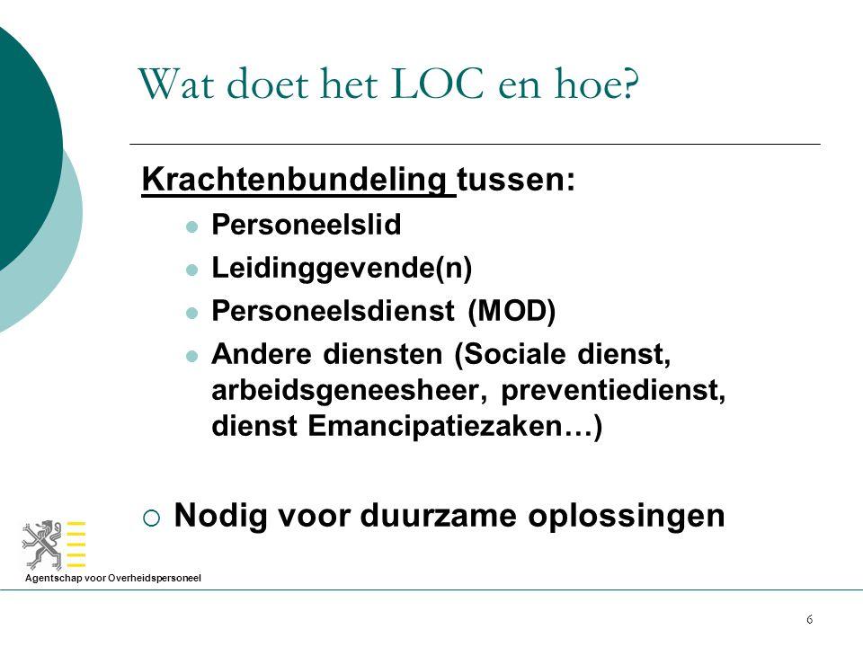 Wat doet het LOC en hoe Krachtenbundeling tussen: