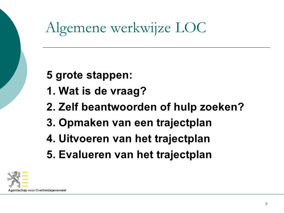 Algemene werkwijze LOC