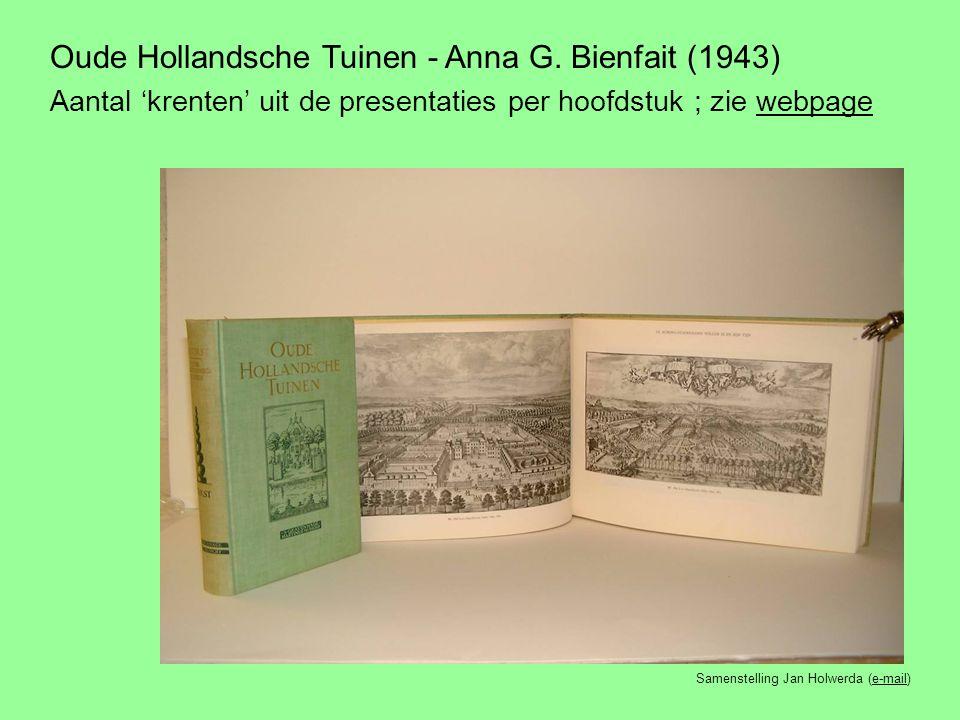 Oude Hollandsche Tuinen - Anna G. Bienfait (1943)