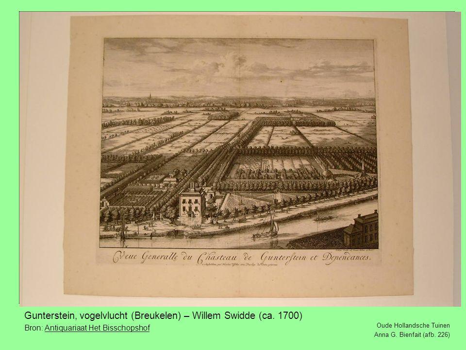 Gunterstein, vogelvlucht (Breukelen) – Willem Swidde (ca. 1700)