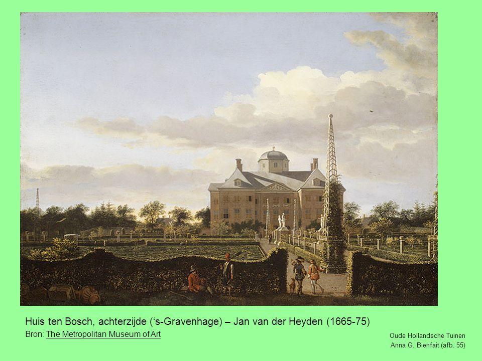 Huis ten Bosch, achterzijde ('s-Gravenhage) – Jan van der Heyden (1665-75)