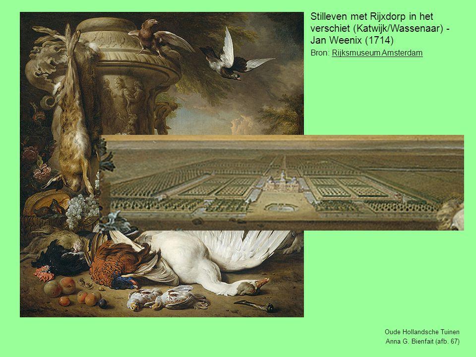 Stilleven met Rijxdorp in het verschiet (Katwijk/Wassenaar) - Jan Weenix (1714)