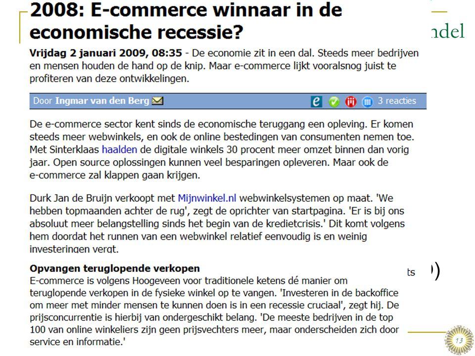 E-commerce toepassingen: Detail- en groothandel