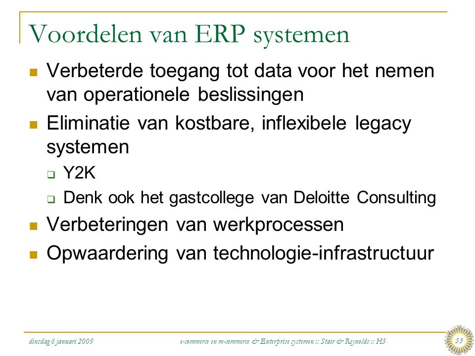 Voordelen van ERP systemen