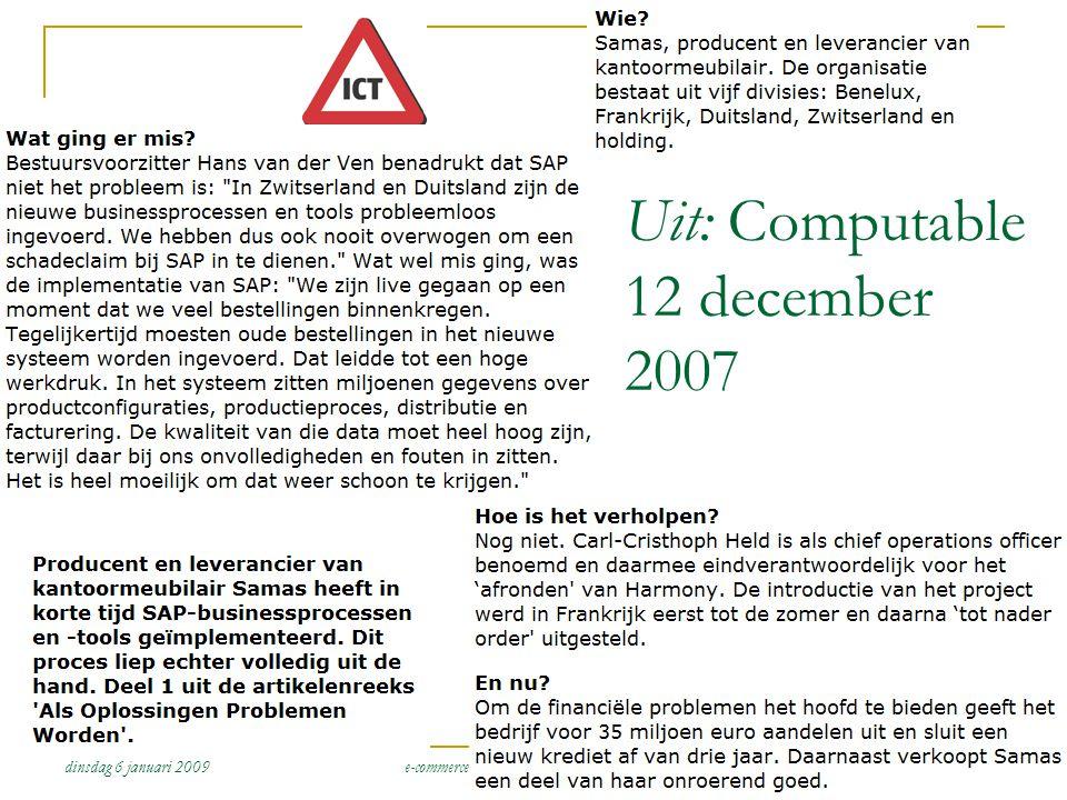 Uit: Computable 12 december 2007