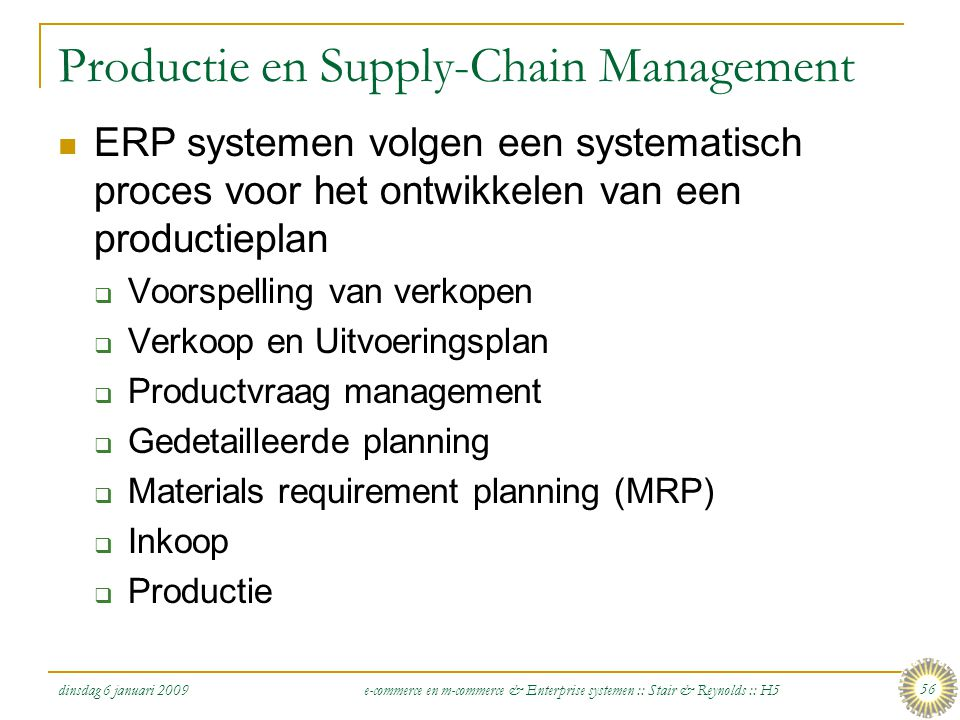 Productie en Supply-Chain Management