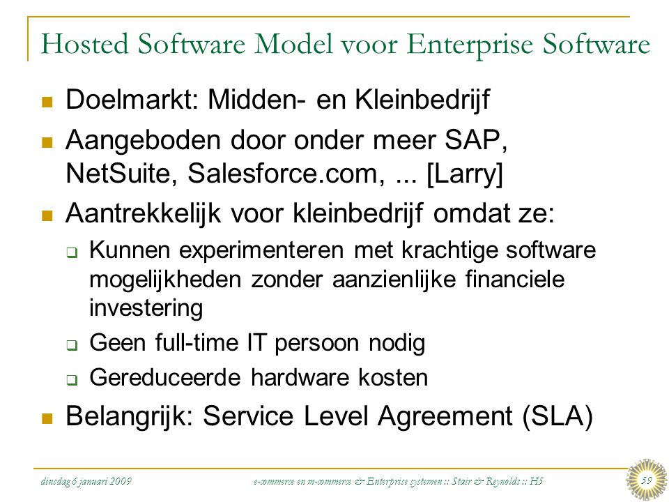 Hosted Software Model voor Enterprise Software