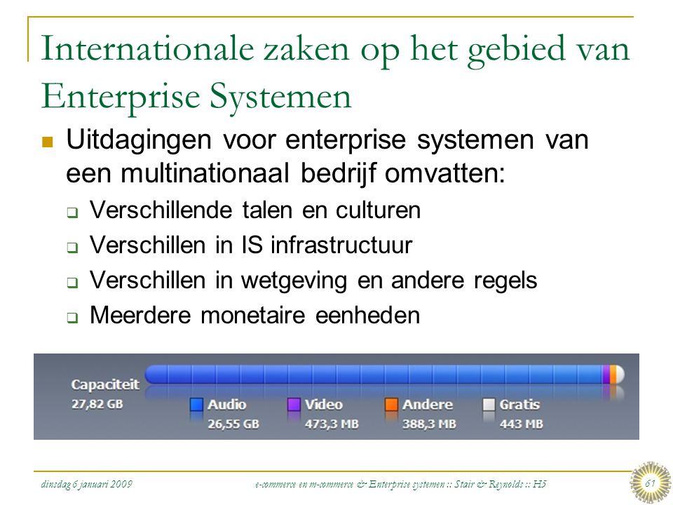 Internationale zaken op het gebied van Enterprise Systemen