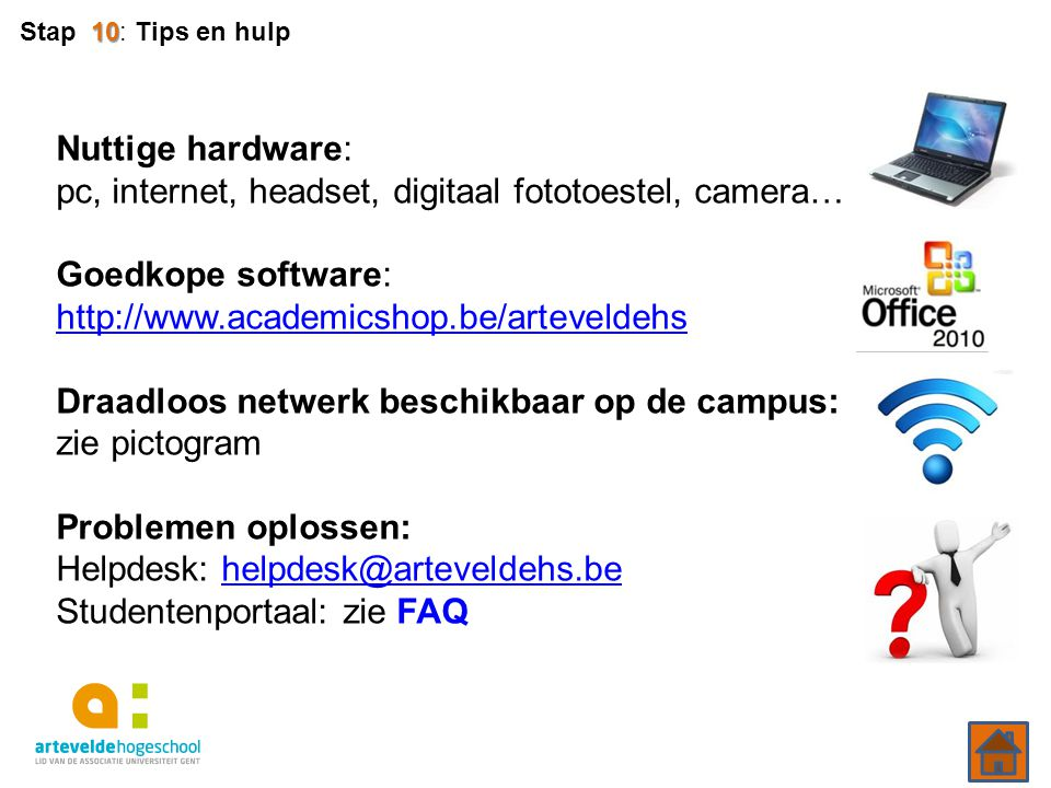 Nuttige hardware: pc, internet, headset, digitaal fototoestel, camera…