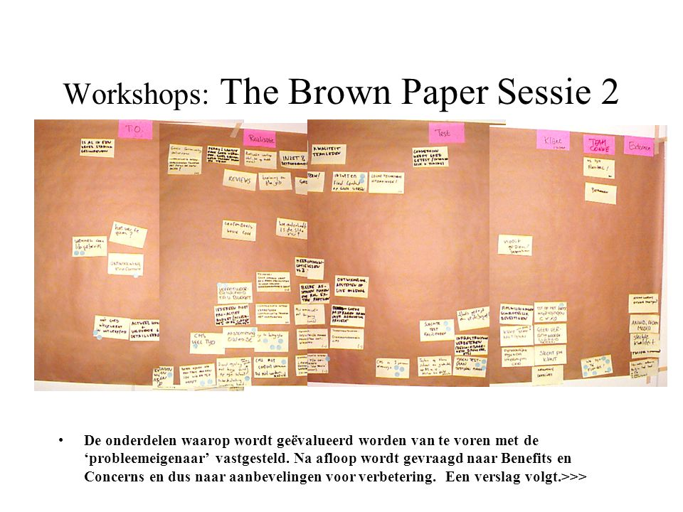 Workshops: The Brown Paper Sessie 2