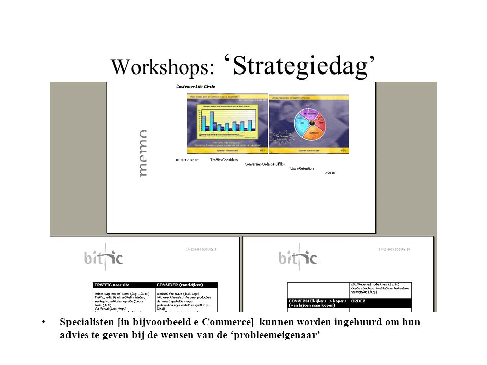 Workshops: 'Strategiedag'