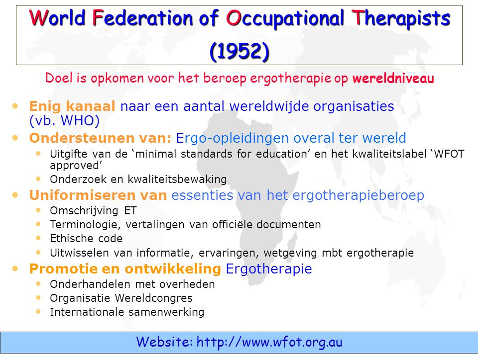 World Federation of Occupational Therapists (1952)