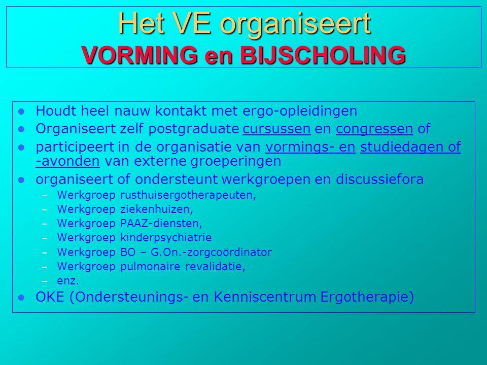 Het VE organiseert VORMING en BIJSCHOLING