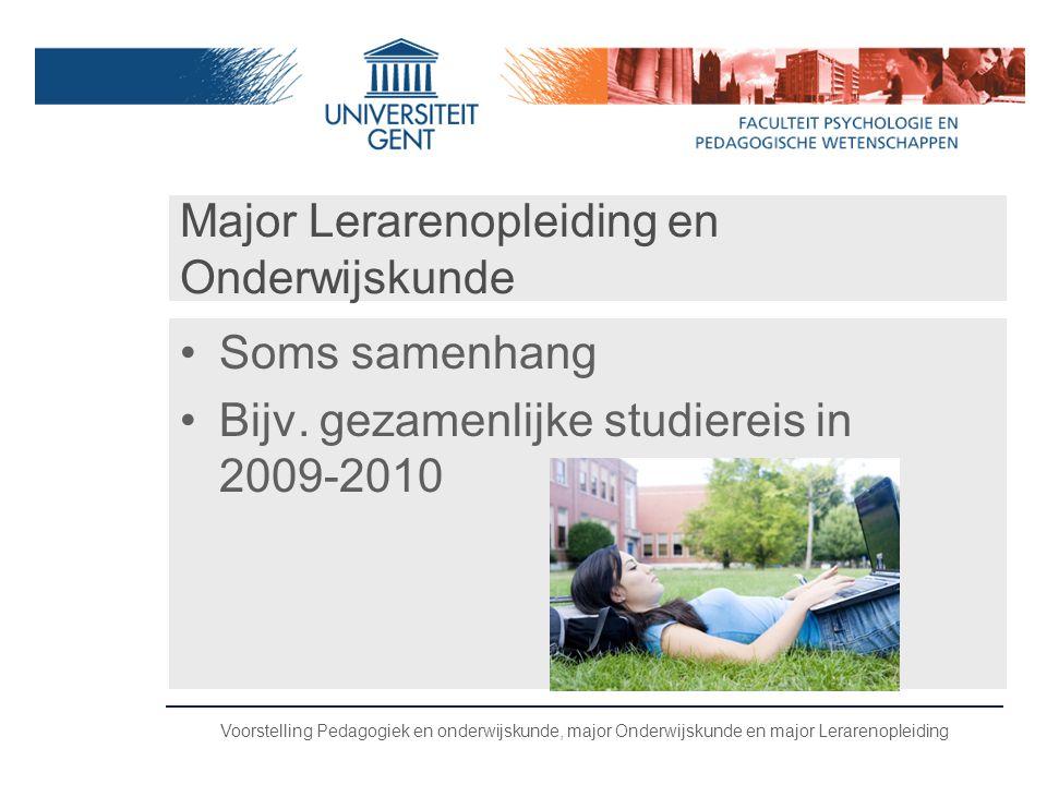 Major Lerarenopleiding en Onderwijskunde